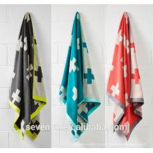Hot sale Double jacquard cross pattern design Bath towel Bath sheet BtT-115 China Supplier