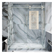 Seawin Slide Glass Handle Enclosures Parts Kit Chrome Aluminum Frameless Side Shower Door