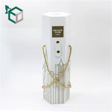 Morden-design White Cardboard Pentagon Shape Wine Box
