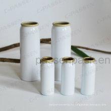 Белый алюминиевый аэрозольный баллончик для упаковки медицинского тумана (PPC-AAC-037)