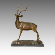 Tier Statue Gazelle / Antilope Bronze Skulptur Tpal-128