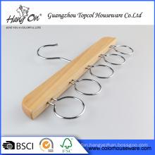 Wholesale metal hook clothes Natural Wood Hanger