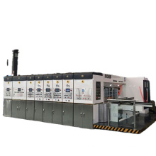 Automatically high speed corrugated carton 4 colors upper roll to roll printing slotting die cutting machine
