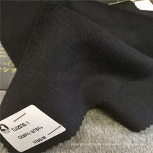 Anti-Static wool cashmere fleece blouse design winter solid coat clothing fabrics