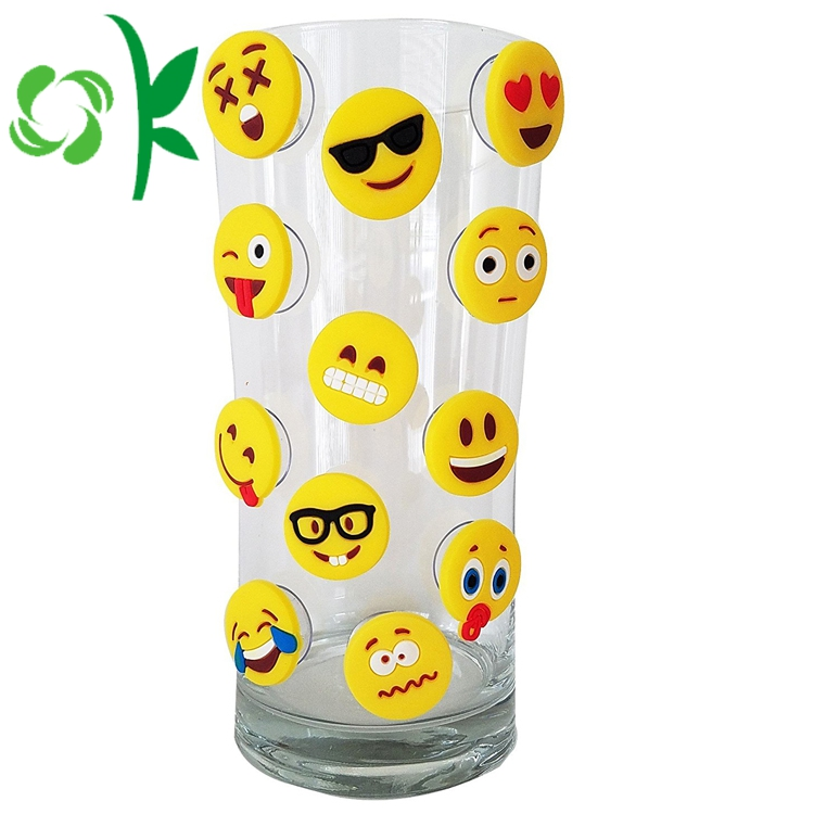 Silicone Emoji Sucker Wine Marker