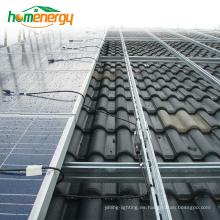 Sistema de montaje solar de techo inclinado en la red Sistema de montaje solar fotovoltaico para fotovoltaica