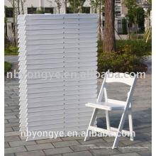 Heißer verkaufender Qualitätsharzhochzeits-Klappstuhl