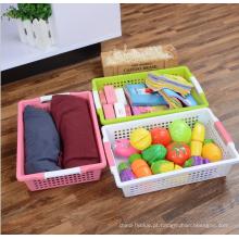 Atacado top qualidade PP plástico multiuso cesta de armazenamento com alça