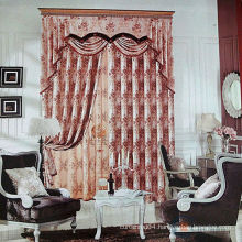 2015 hot sale royal & embroidered luxury curtains with valance