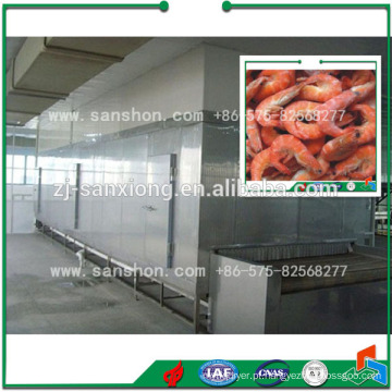 China Máquina de congelação de túnel, Fish Seafood Freezer Equipamento