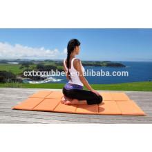 protable customize print design rubber travel yoga mat