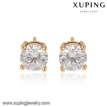 91753-Xuping Jewelry 18K Gold Plated Fashion Simple Stud Earring