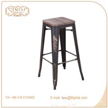 Chine industrielle métal tabouret de bar en bois avec repose-pieds couvre Chine industrielle industrielle tabouret de bar en bois avec couvre-pieds