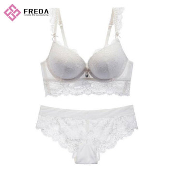 women's full sweet lace bralette bra set