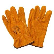 Wing Thumb Cow Split Leather Gants de travail industriels Hand Handheld Protector Driver