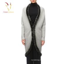 Мода Теплый Обычный Меховой Отделкой Пашмины Шаль Непал