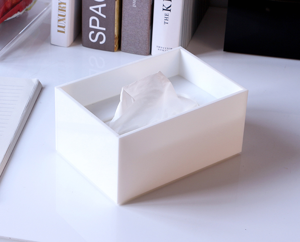 Acrylic Tissue Box White