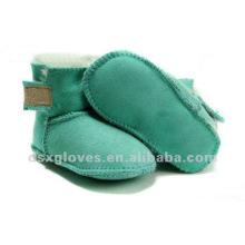 baby green sheepskin winter shoes