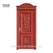 Holztür aus Foshan-Teakholz modelliert Design-Tür aus Holz