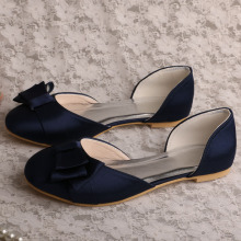 Amazon Ladies Shoes per Wedding Flat Navy