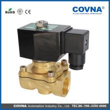 Electroválvula de latón de 2 vías de acción directa válvula electrónica para agua, gas, aceite