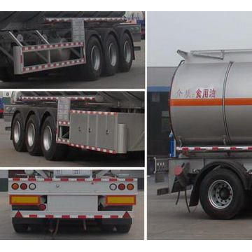 13m Tri-axle Edible Oil Transport Semi Trailer