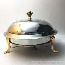Buffet Server Food Warmer Copper Chafing Dish /Candle Food Warmer