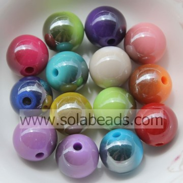 Xmas Decoration 18mm Earring Round Bubblegum Imitation Swarovski Beads