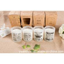 Romantische duftende natürliche Soja Massage Kerze im Glas