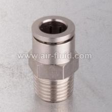 High Pressure  Slip-Lok X Male Adapter N.P Brass Fittings.