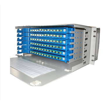 Montagem de Rack de 96 Núcleos LC-Port Optical Cross ODF