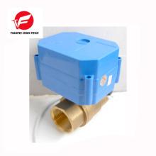 CR01 CR02 12V 24V DN15 latão CWX-60P Válvula de esfera motorizada de 6nm de porta cheia