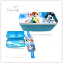 Boîte à lunch Bento en plastique pour enfants avec serrure (750ml)
