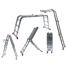 aluminium multi purpose ladder 4x3 4x4 4x5 4x6 with small or big hinges joints