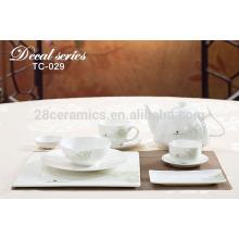 luxury fine bone china table set , fine porcelain 16pcs tea set