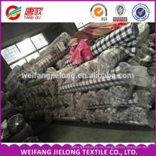 2016 Fabricante Profesional Al Por Mayor de hilo teñido de tela de franela cepillado stock algodón teñido de hilo de tela de franela