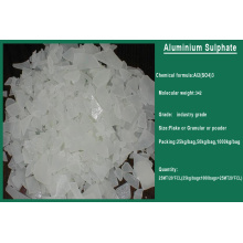 China Químicos de tratamiento de aguas residuales 17% Sulfato de aluminio
