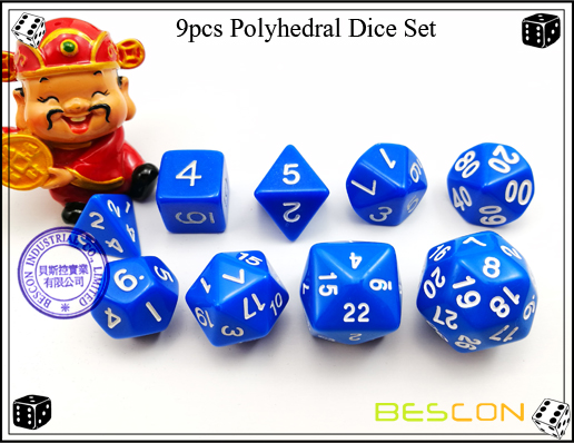9pcs Polyhedral Dice Set-15