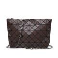 Bolsa de ombro fosca escovada bolsa feminina da moda bolsa pequena com emenda de diamante bolsa de corrente da moda