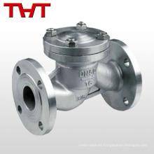 Válvula de retención de elevación vertical tipo brida vertical de acero inoxidable CF8