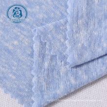 knitted polyester cotton rayon tcr slub jersey fabric