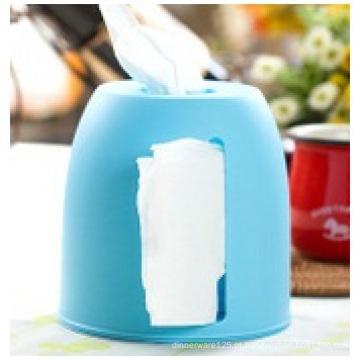 Caixa de tecido plástico de publicidade personalizada, caixa de tecido PP retangular