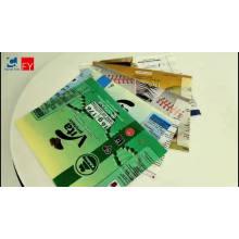 Eco-friendly shrink sleeve PET PVC plastic stickers for bottle label