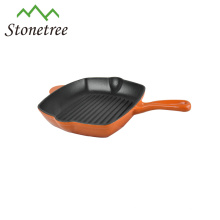 Wholesale New Square Cast Iron Enamel Korea BBQ Grill Pan