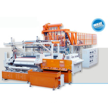 fully automatic high speed three layer or five layer 1500 mm pe stretch film machinery