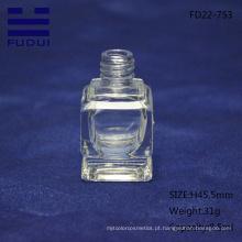 Venda imperdível! Frasco de esmalte de vidro vazio transparente feito sob encomenda da forma com tampão