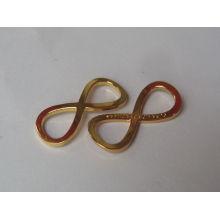 zinc alloy material simple gold pendant design for sale