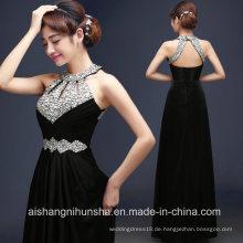 Satin Abendkleider lange formale Lace up Abendkleid