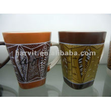 Hunan Factory Direct Produced Ceramic Mug/Geometric Decorative Square Shape Coffee Drinkware Mugs Cups