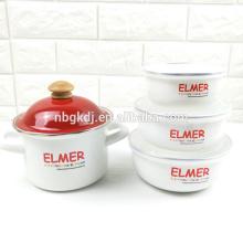 Эмалированную кастрюлю и эмалированную посуду наборы с блестящий дизайн